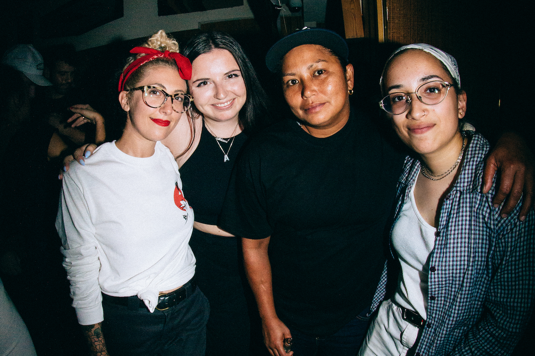 The gang is all here. Quell Directors (Kristen and Adrian), Jaime and Abi reunited since the epic cover shoot. Shouts out to  Abi  for shooting that cover story on film.