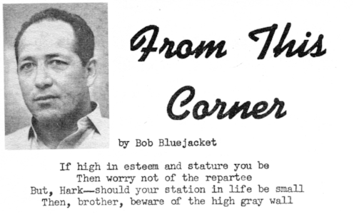 BlueJacket's prison newspaper byline, 1966.