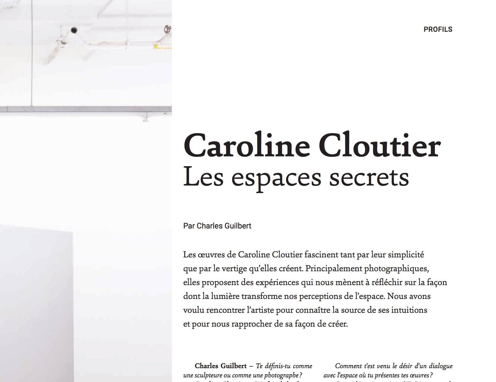 vie des arts - En kiosque maintenant! Entrevue menée par Charles Guilbert pour la revue Vie des Arts, no 254. Pour plus d'information: viedesarts.com