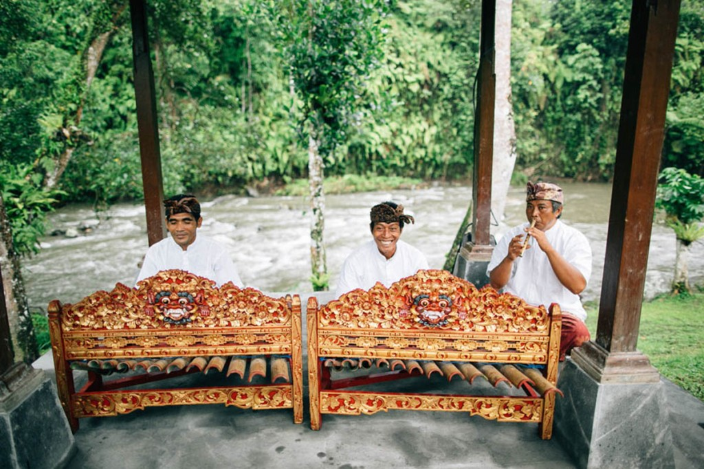 Balinese musicians play traditional instruments at a wedding in Ubud.jpg