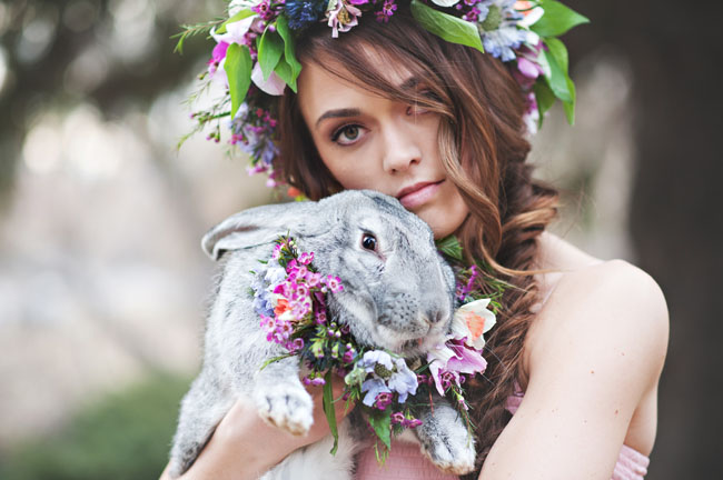 easter wedding, easter wedding ideas, bride and bunny, boho bride.jpg