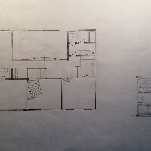 Prelim drawing for what will be a beautiful home.