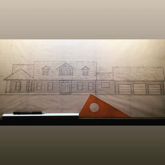 Preliminary elevation, floorplans are set, I am just playing with what I think this house needs to look like