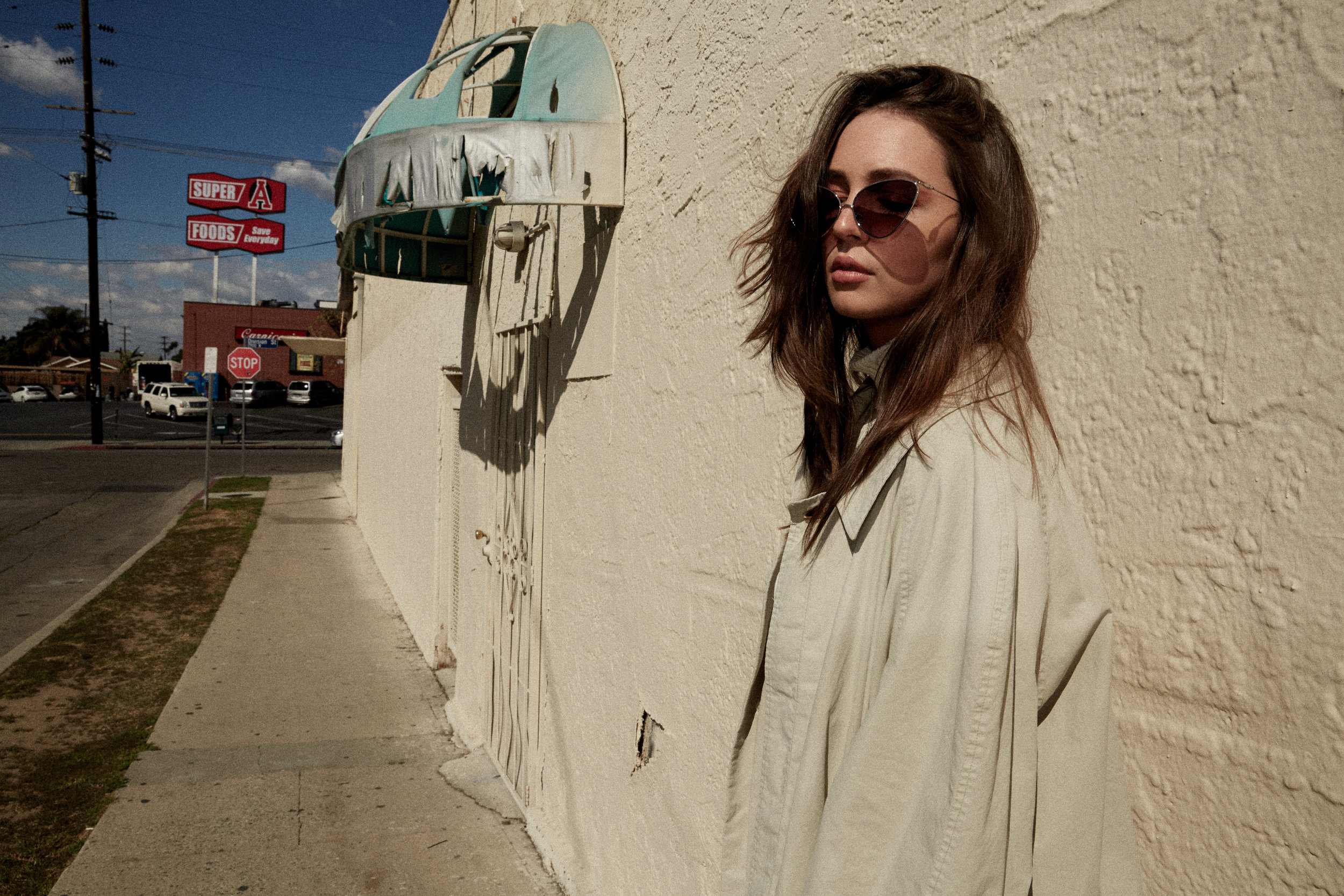 staud Levi denim Gucci vintage trench coat and other stories