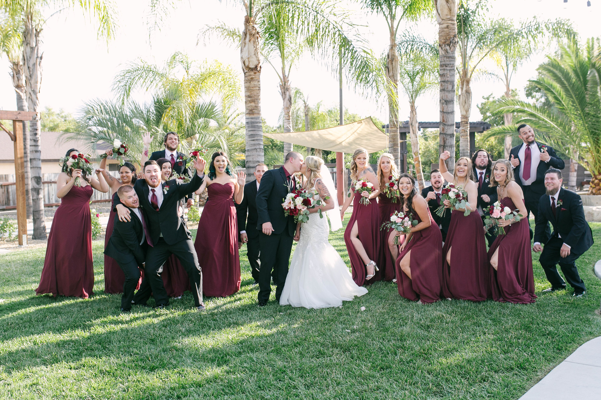 When you have a large wedding party, that just wants to have fun, you have fun