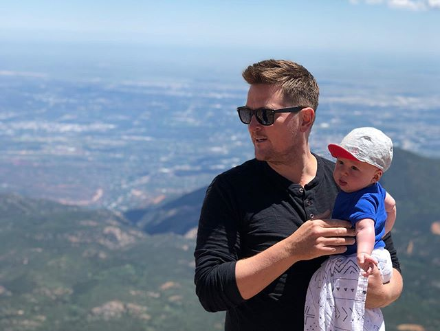 Showing Leo what's it's like at the top... of Pikes Peak. It's not easy to get there but when you do it's the best. #pikespeak #leojoyner #lifeanalogy #colorado #visitcolorado #mountaintop