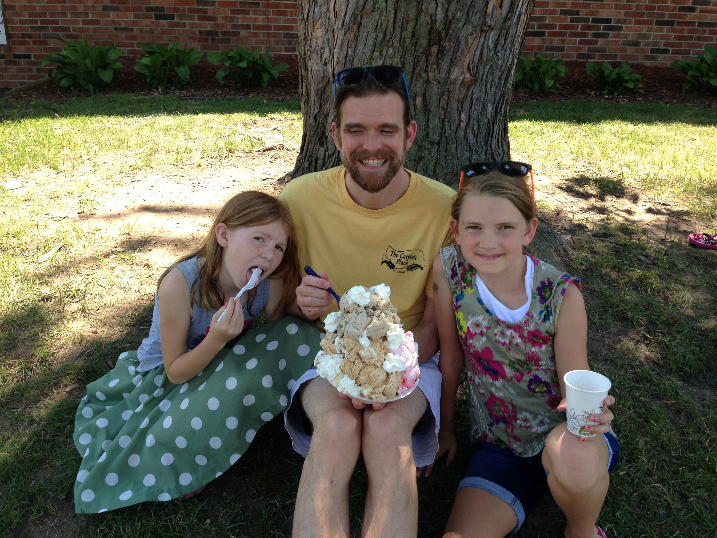 My adorable family about to prove you can  never  have too much ice cream!