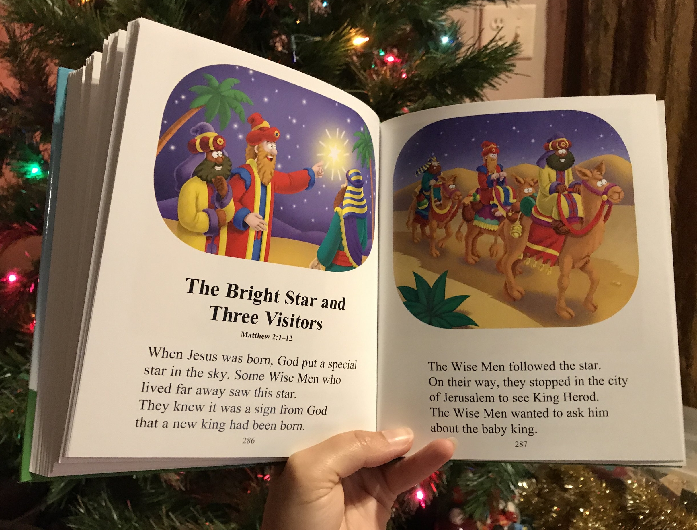 A snap of my favorite story. Side note: also my favorite Christmas carol. Have you ever heard all the verses? So fun to sing in a minor key!