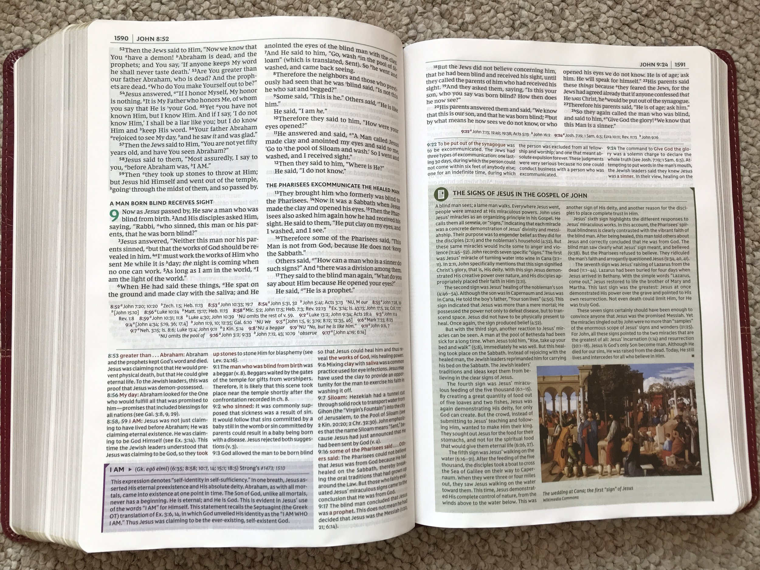 The NKJV Study Bible is chock-full of word studies and insights into ancient culture.