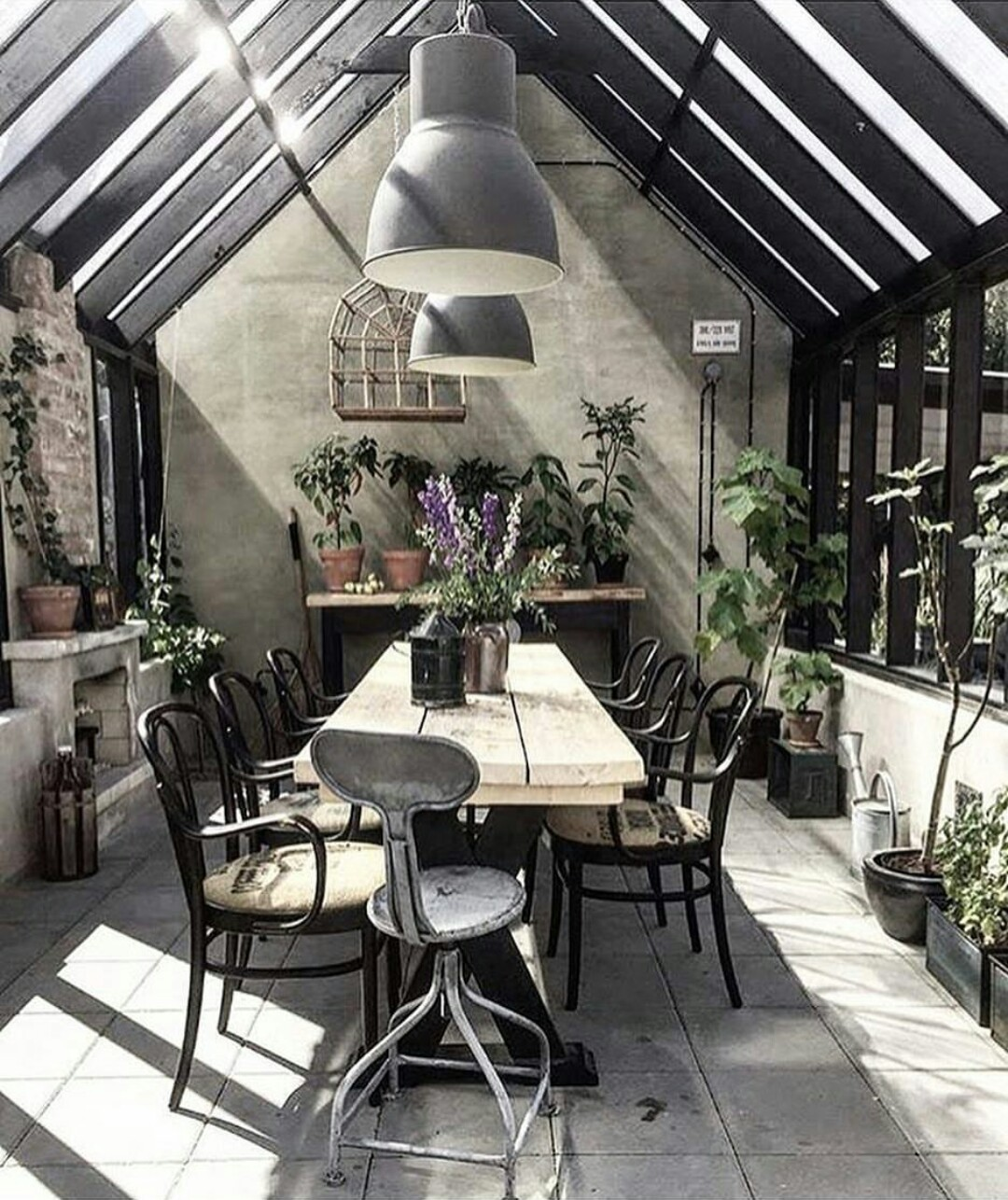 An industrial potting shed.