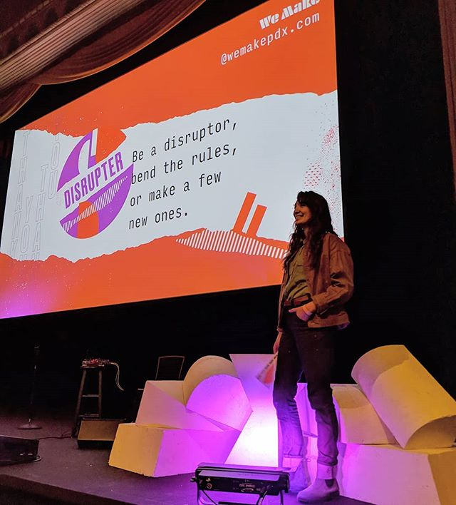 @gosamilee visualizing presenting at @wemakepdx someday soon. We were so inspired by the presenters at last night's conference! We love seeing what other Portland makers are doing and having the chance to chat with @dovetailworkwear among others. . ∆ ∆ ∆ ∆ #makersgonnamake #woodworking #ladymakers #pdx #digifablife #cnc #maokemade #maoke #wemake #dovetailworkwear