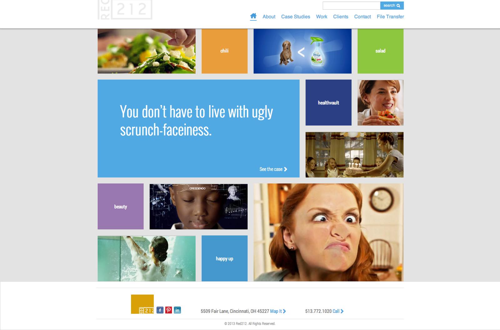 Red212.com homepage