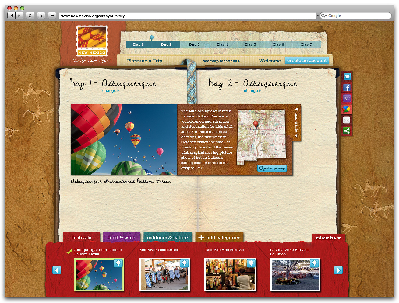 Write Your Story Trip Planner