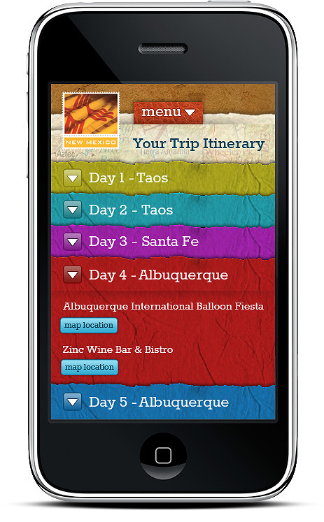 Write Your Story Mobile Trip Itinerary