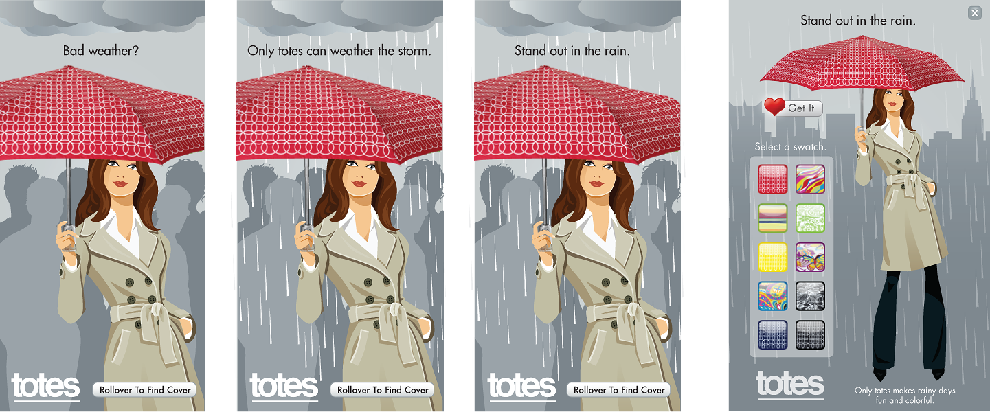 Totes | Rich Media Display Ad