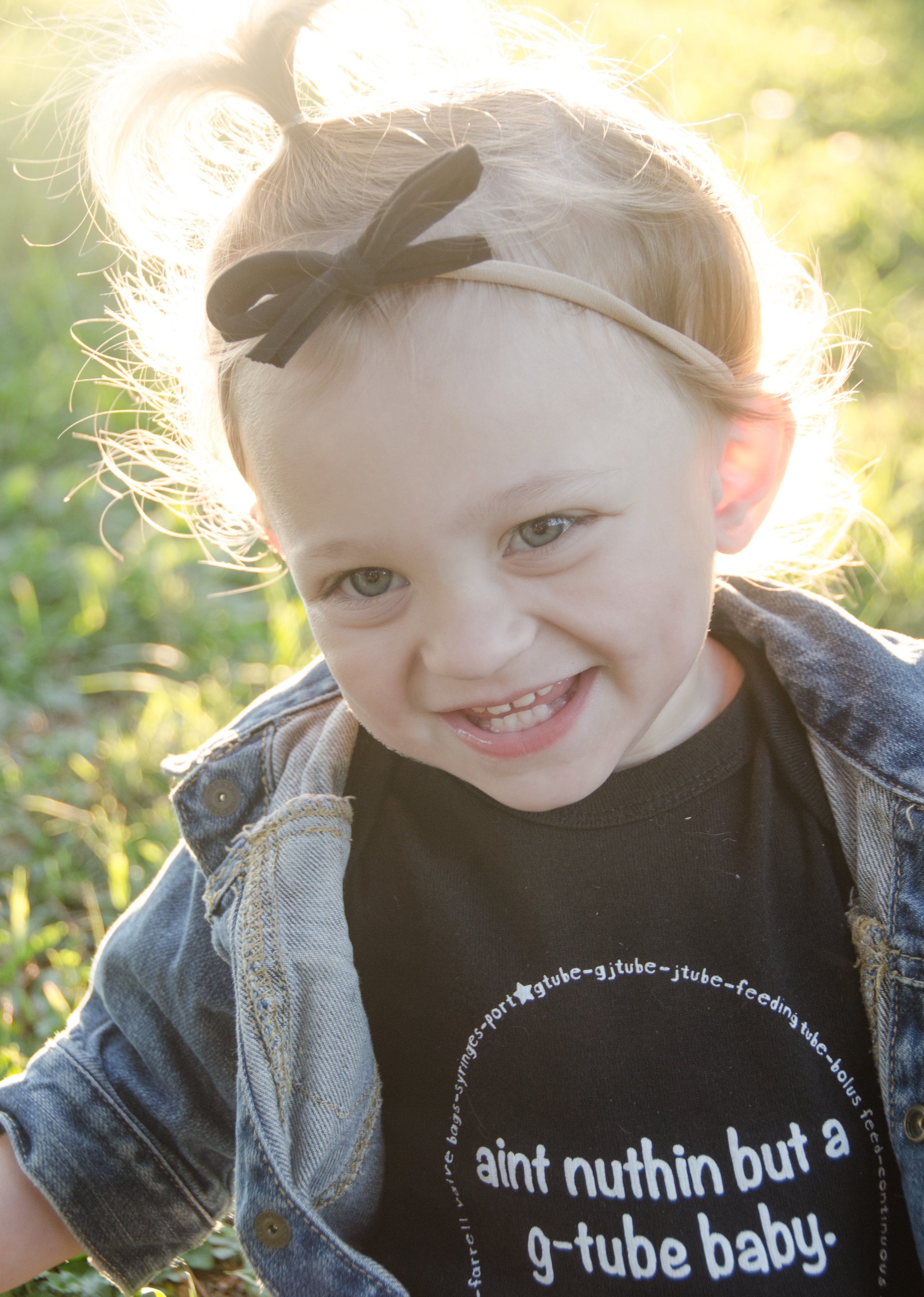 Peculiarly Perfect - A clothing line designed for all kids, but they also have two specific collections designed to educate and spread awareness about various special needs and diseases. Peculiarly Perfect is donating 30% of proceeds during the month of September when code NICULOVE is used! Adeline is wearing their
