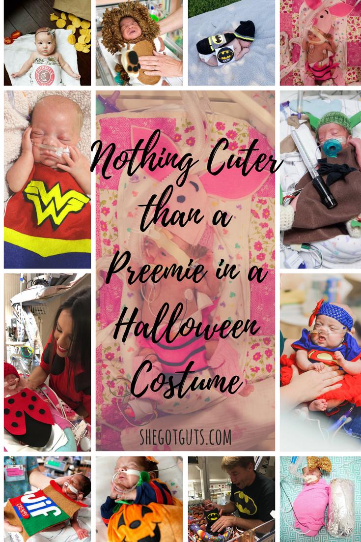preemie babies in halloween costumes -shegotguts.com