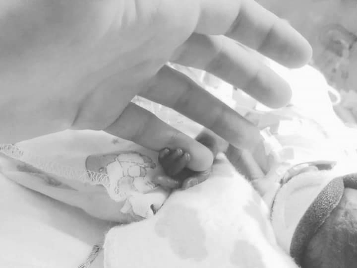 Dakota-Rose Davenport, 24 weeker - I'm grateful because she was dead for 6 minutes, just last year. She was just over 1 pound at almost a month old and all of a sudden her monitors started beeping at once, and the nurse that was with her started mumbling