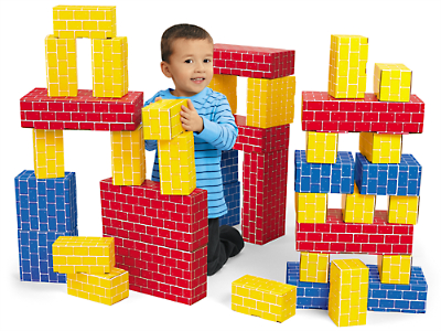 blocks - I love container play using blocks, putting in and taking out (kids developmentally 6-9 months old love that activity) You can put small blocks in a wipes container to work on object permanence and kids can try and figure out how to get it out. Blocks can be use to build towers and saying things like