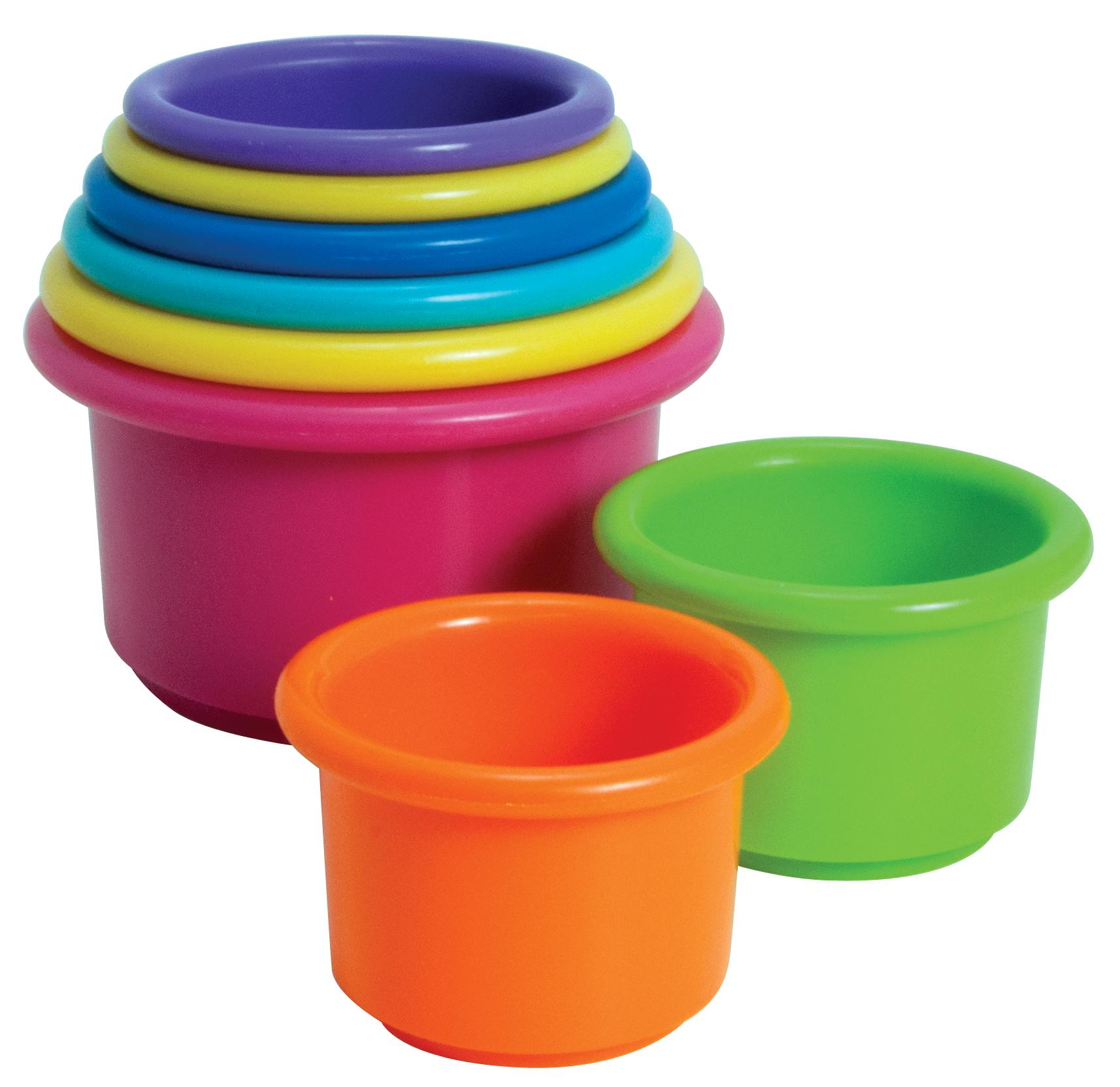 stacking cups - These simple toys are deceptively amazing, and can be used for a variety of things; fine motor skill, visual and spatial skills, balance, trunk control, & gross motor, crossing mid-line, creative play, and for the purpose of this article language concepts. Stacking cups are great to teach size, big and small, or big, bigger, biggest. You can use these by turn taking and take turns stackiing them, use them to teach colors, counting, etc.