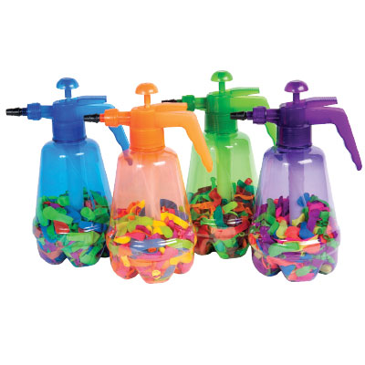 balloon pump - These balloon pumps can be used with water or air. There are endless activities you can do with this pump. You can blow up the balloon with air and say,
