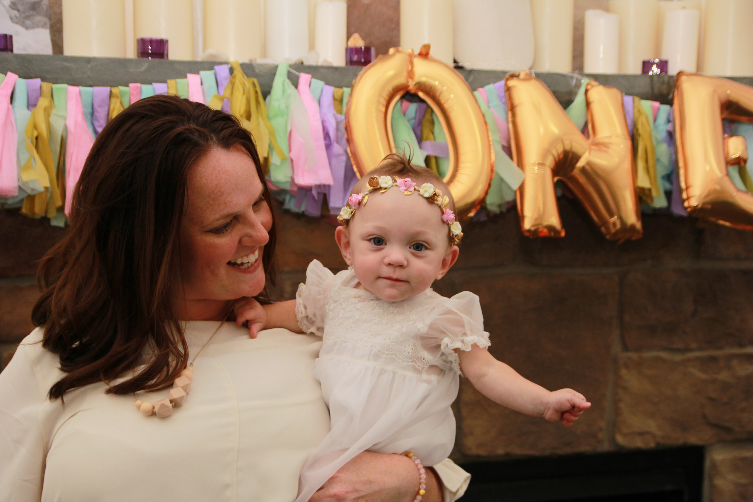 """At Adeline's first birthday she was only babbling """"mama"""""""