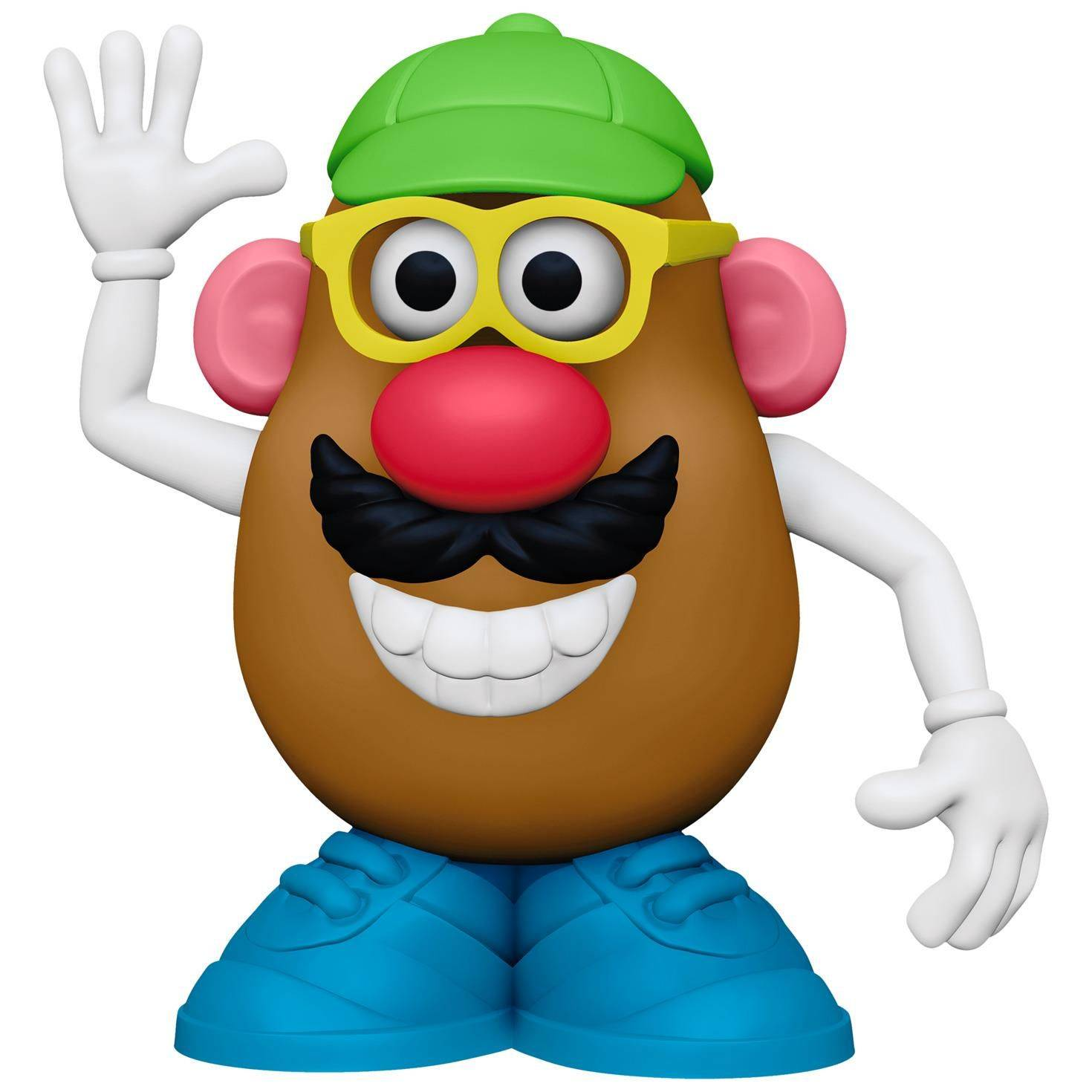 mr potato head - Mr. Potato head is great for so many activities and concepts. We use it to teach body parts using expressive and receptive language. It is amazing to put it on, take it off, put the hat on top, etc. The potato heads can walk, run, talk, fall, etc. and use different verbs. We have also begun to separate the parts and categorize them into clothes, body parts, etc. It is great for collaborative play or turn taking, and I have begun introducing adjectivies,