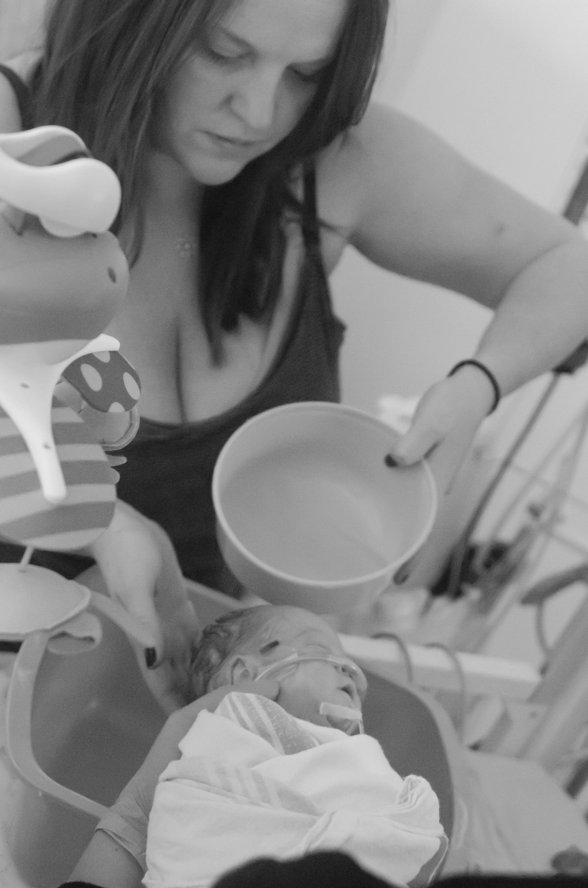 we waited over 3 months before we could bathe her - We do love our bath time. I remember the first time I was able to bathe her, at nearly 3 months old. It seems like a staple to most parents, and although I am sure it was special, it is even more meaningful for a parent of a preemie who had to wait for months to just do this simple task of cleansing their baby. Before then, it was simple sponge baths, done infrequently, so that we did not over stimulate her, mess with the temperature of her body, etc.