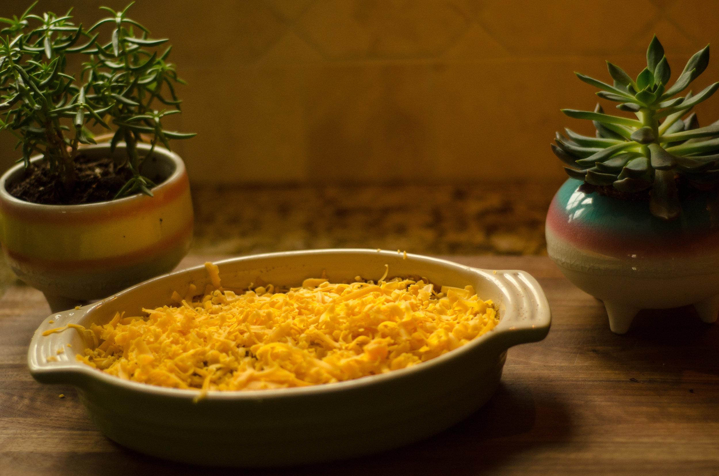add shredded cheese -