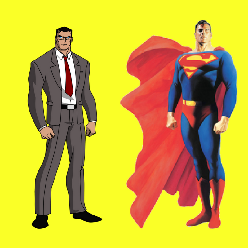 Just in case you wondering about the phone booth! - Our mild manner reporter Clark Kent was a MEDIA superhero!