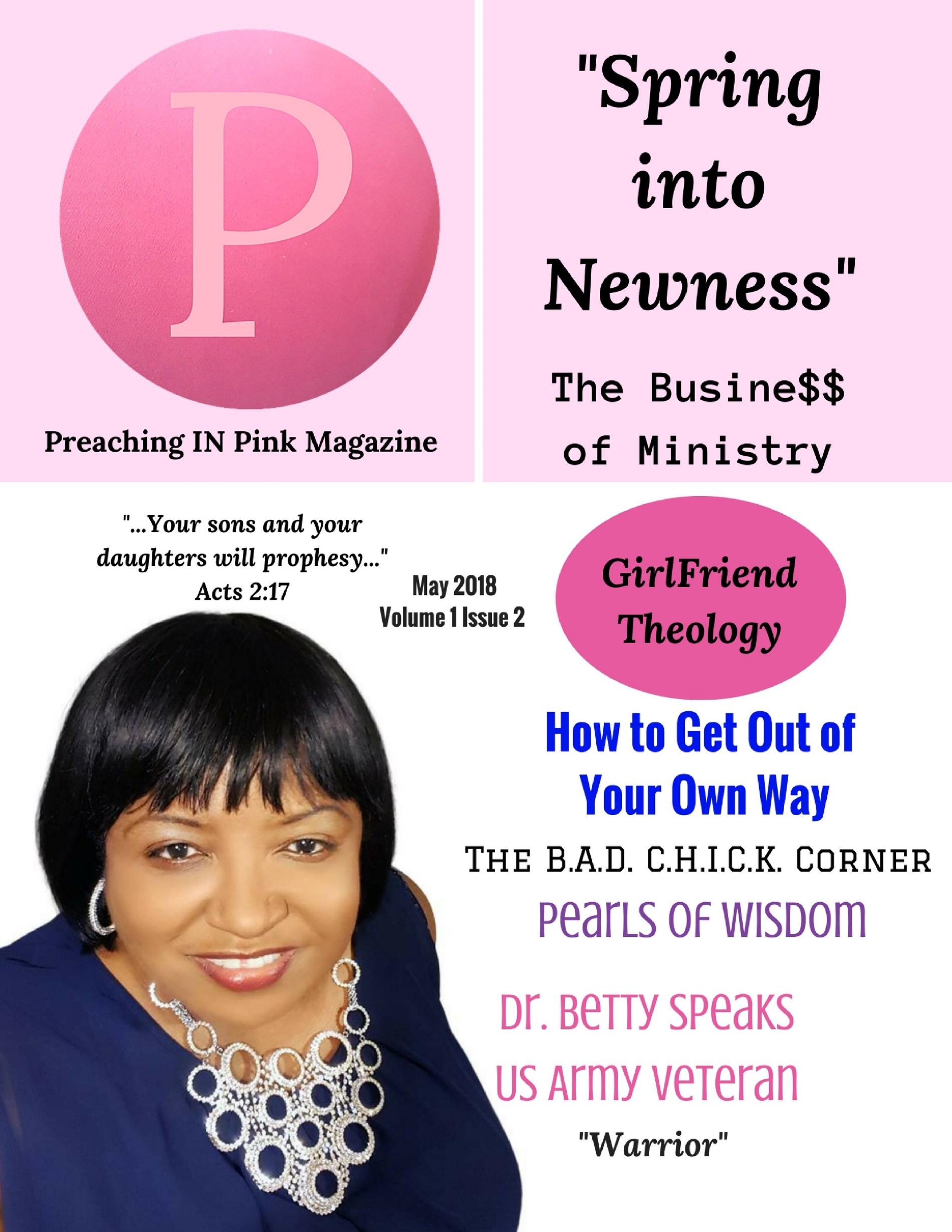 APRIL 2018 Dr. Betty Speaks   Print    Digital