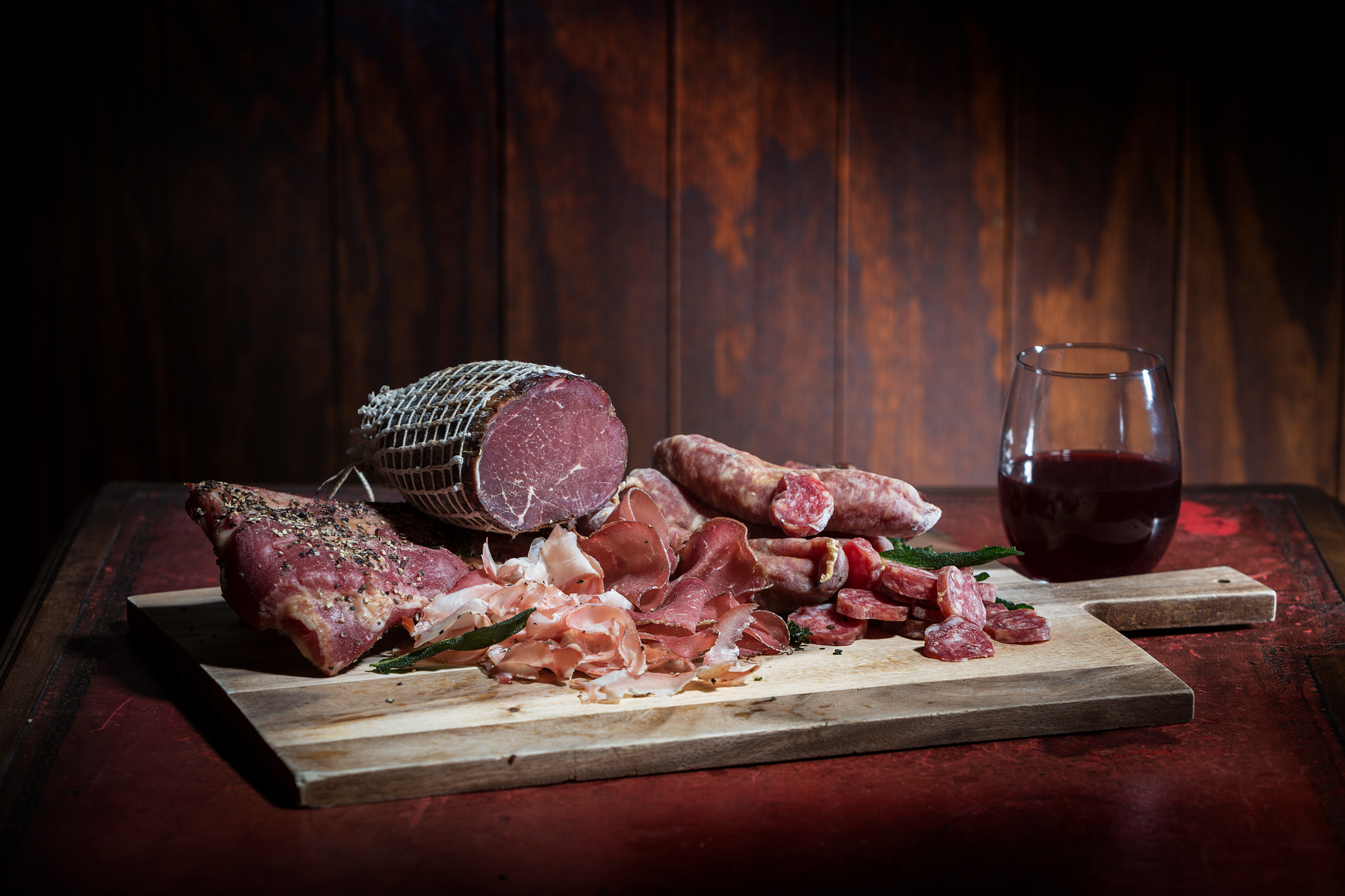 Delectable cured meats