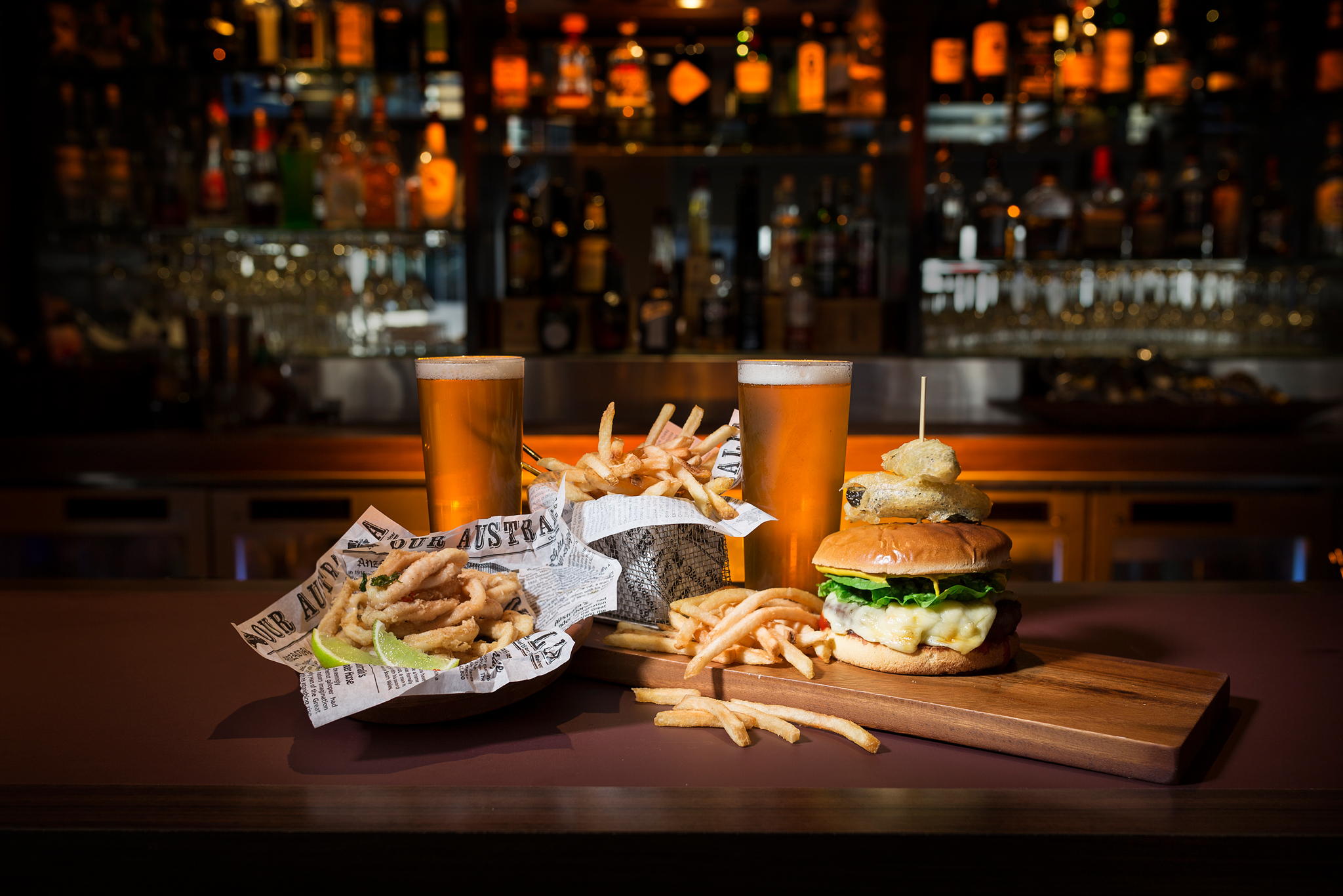 Happy Hour Burgers and Beers at First Edition Canberra
