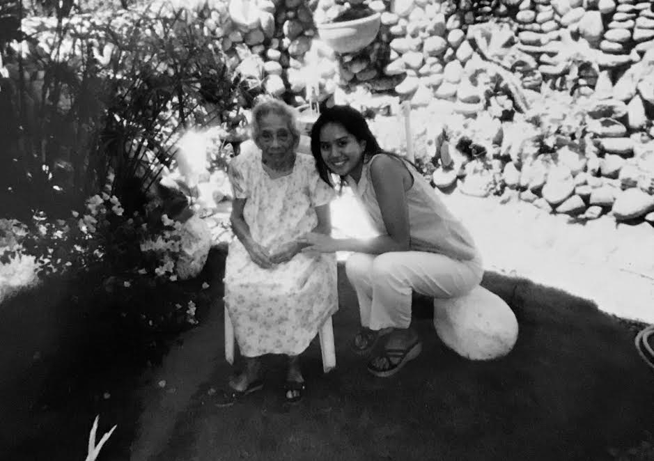 Me with Lola Uping, October 2001. Negros Occidental, Philippines