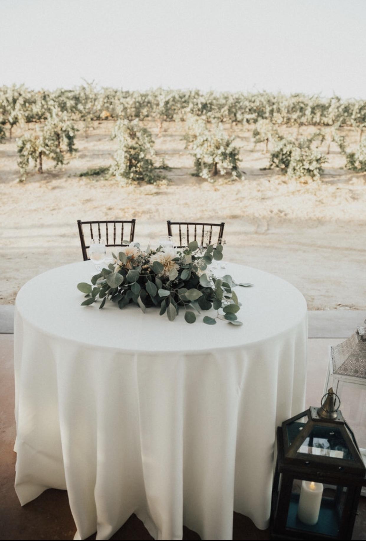 Bride & Groom Sweetheart Table
