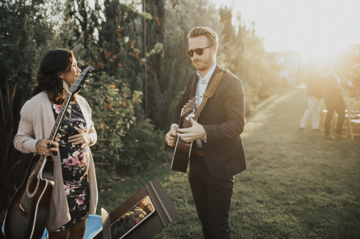 """Trevor opened the ceremony in worship. It was important for me to acknowledge that God had put this all together, so I chose songs that declared His character. I asked Trev to sing """"Indescribable"""" and """"Good, Good Father."""" My sister, Rachel, sang """"Great Is Thy Faithfulness"""" as I walked down the aisle."""