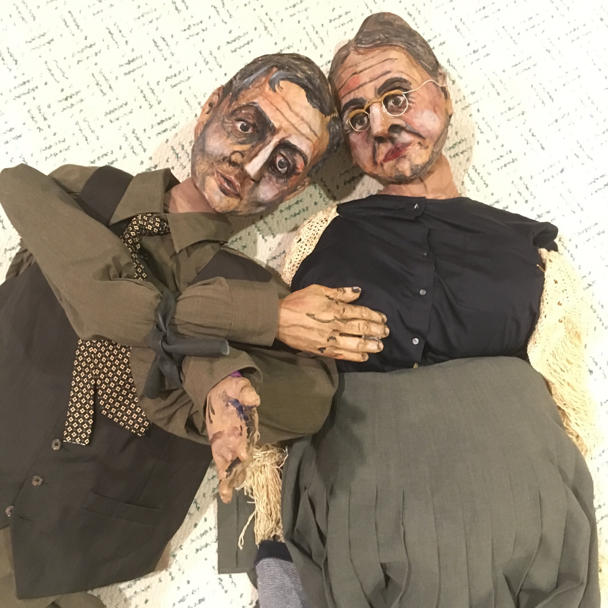 Full-size Bunraku-inspired puppets I built for a theatre workshop