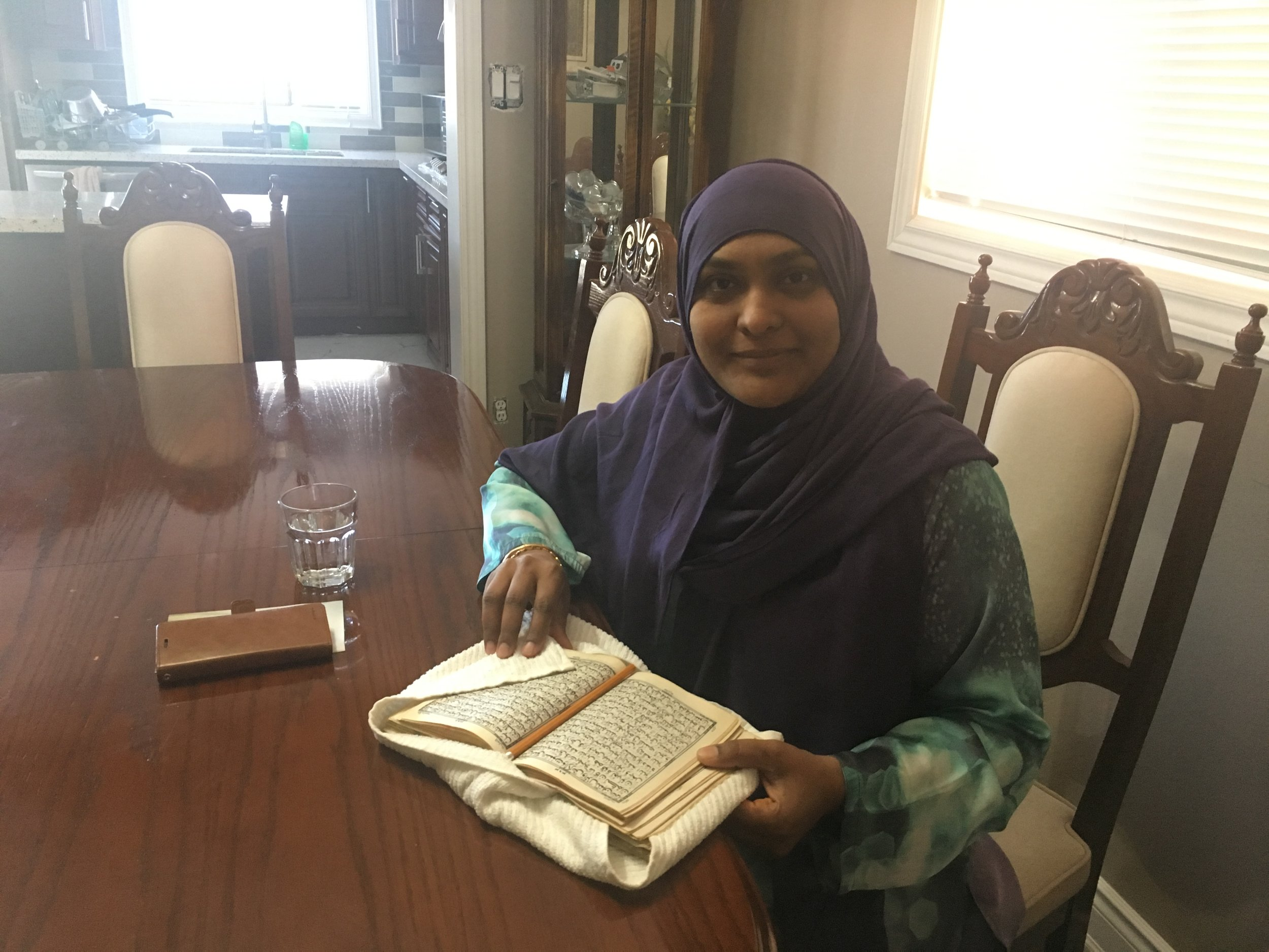 Nasreen Cheema  teaches Qu'ran memorization in Toronto