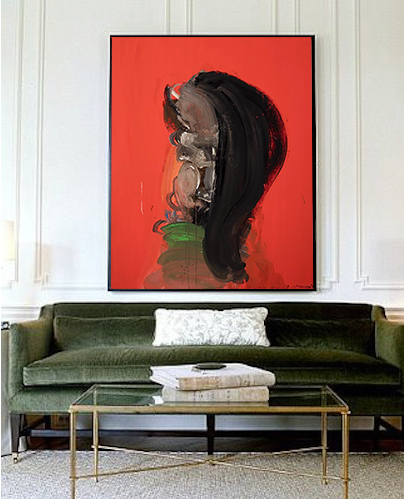 A contemporary & sophisticated choice to accentuate what you already have. Art for a room that expects no less.
