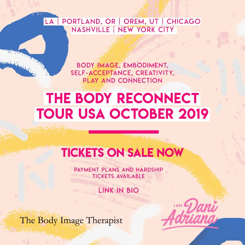 The Body Reconnect Tour  is coming to the US this fall to spread body positivity and self love! Click  here  for Tour information / Click  here  for Tickets / Click  here  for the facebook group for people interested in attending the tour in any city!