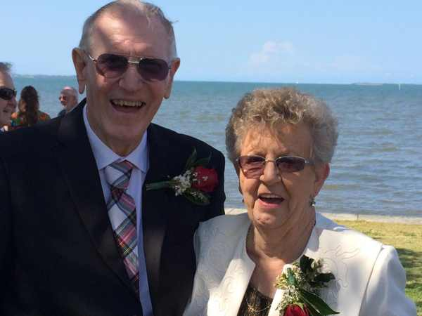 What better way to celebrate a special anniversary than with a renewal ceremony? John and Barbara Roberts – Wynnum