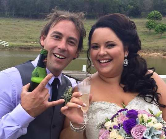 Joel and Tash Reeves - Laidley - enjoying a stress-free wedding day