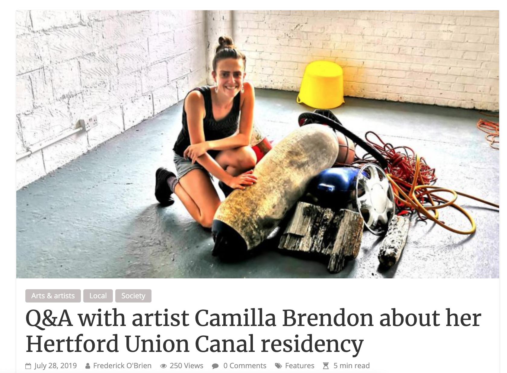 Camilla at Chisenhale Studio 4