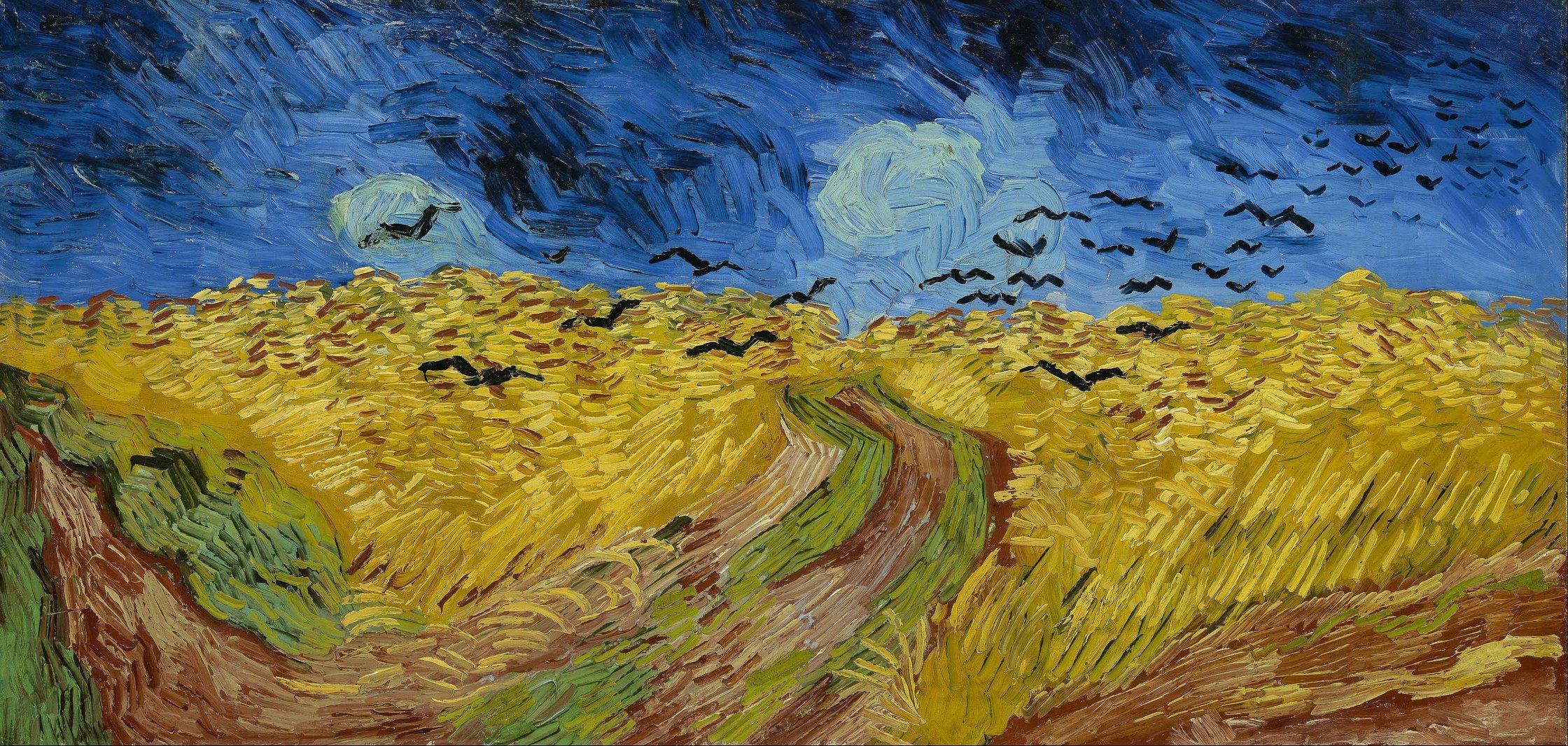 """Vincent van Gogh, """"Campo di grano con corvi"""""""