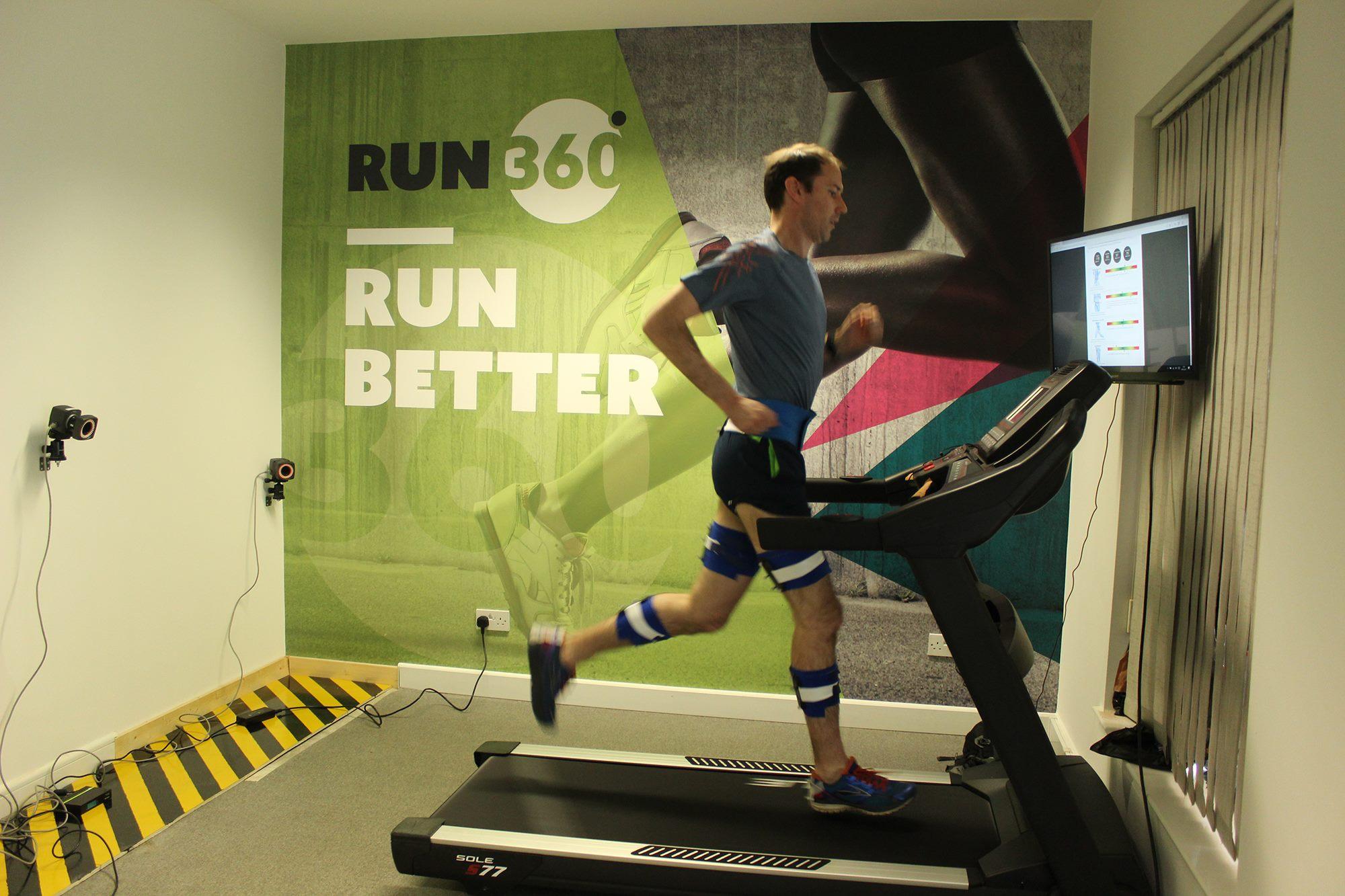 Brendan during his Run360 3D analysis session