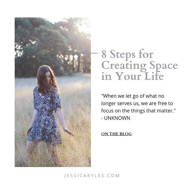 {NEW BLOG POST: 8 STEPS FOR CREATING SPACE IN YOUR LIFE} ⠀⠀⠀⠀⠀⠀⠀⠀⠀ In today's busy times we are constantly bombarded with noise and information. It's no wonder that most of the western population is living a life filled with chaos, stress and overwhelm. Coming from a life of chaos myself, I know how hard it is to break the pattern. But I can confidently assure you that it can be done. I know this because I have spent the last six years practising and perfecting the methods and tools that I'm about to share with you. ⠀⠀⠀⠀⠀⠀⠀⠀⠀ Since creating space in my life I have changed careers, turned my hobby of health and wellness into a business, gotten out of a toxic relationship, entered a new supportive and fulfilling relationship, consciously stepped away from friendships that were no longer aligned with me, strengthened the relationships that are, overcome my anxiety and depression, created a home that makes me feel calm and relaxed, discovered my spirituality, honed in on my core values, created more freedom in my life and much, much more! It's safe to say that creating space is pretty powerful stuff. ⠀⠀⠀⠀⠀⠀⠀⠀⠀ Now let's get into the strategies I used to completely turn my life around. ⠀⠀⠀⠀⠀⠀⠀⠀⠀ - Head to jessicaryles.com/blog to keep reading. xx (Link in bio)