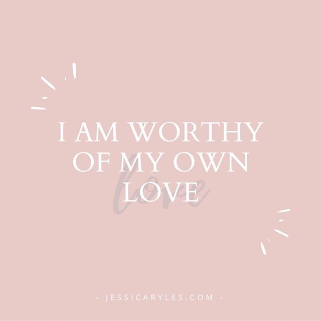 I AM WORTHY OF MY OWN LOVE. 💕 ⠀⠀⠀⠀⠀⠀⠀⠀⠀ As women we tend to be great nurturers but we're also good at putting everyone else's needs before our own.  This beautiful mantra is one of my absolute favorites for deepening self-love and self-worth.  You're welcome 😉