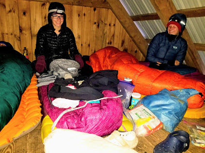 Soups and Stokes: Wall-to-wall sleeping bags in a shelter loft