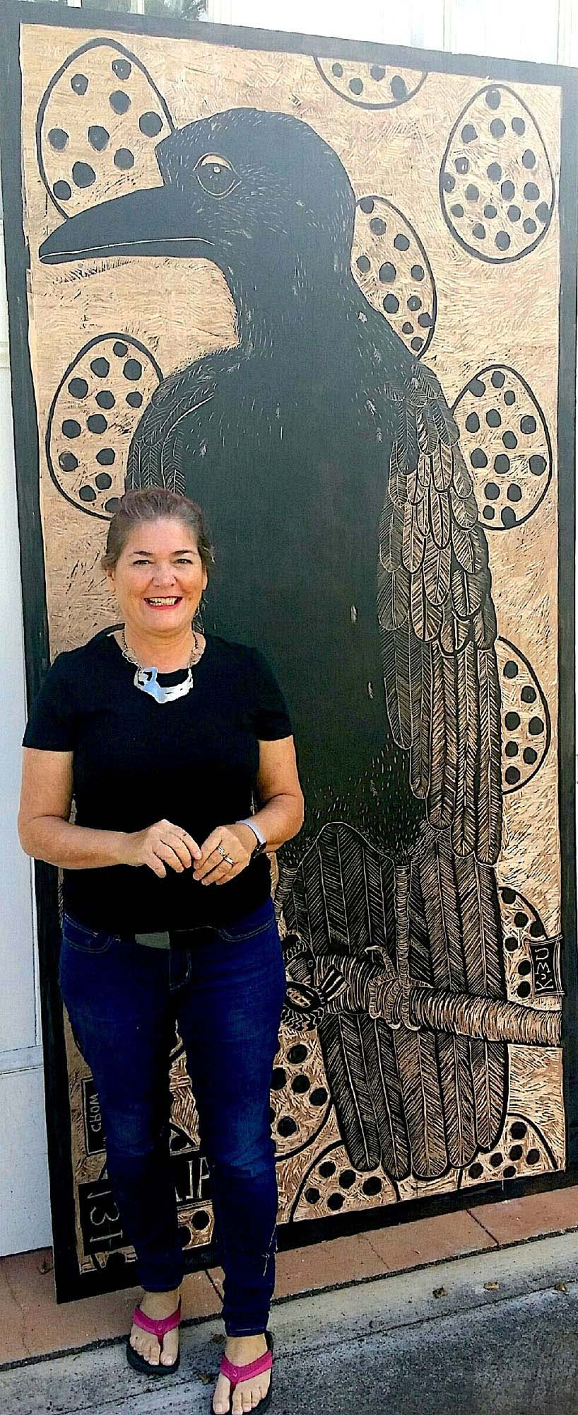 About Caroline Killhour, Woodcut Artist in Maui, Hawaii.