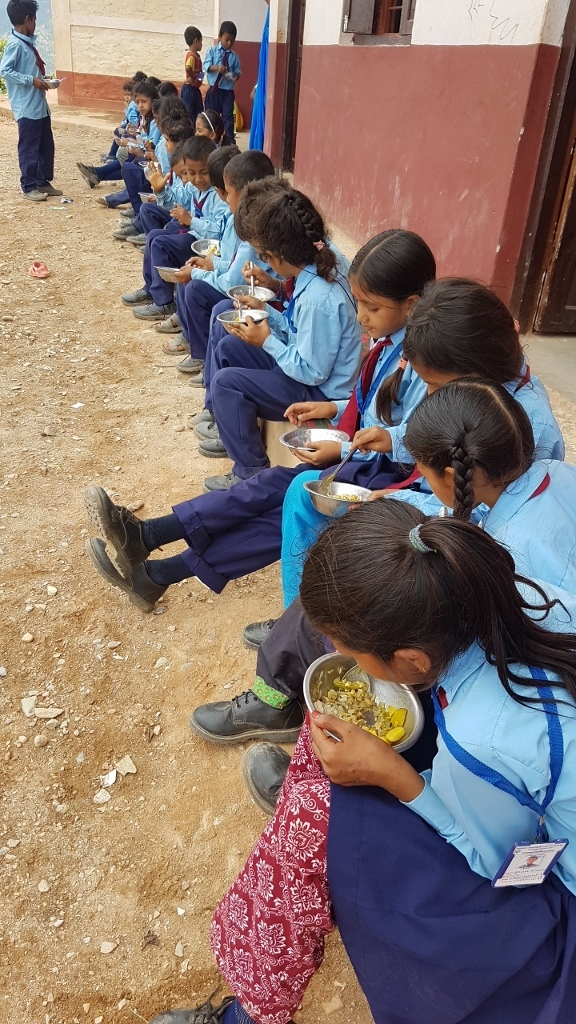 Lunch provided by the school encourages students to attend